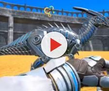 The Tek Parasaur ready to face another opponent. [Image source: ChubbyDino/YouTube]