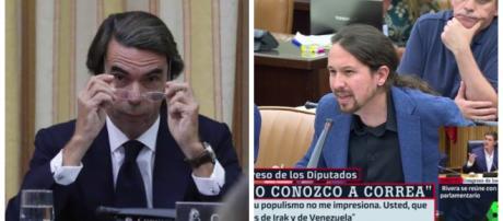 Aznar y Pablo Iglesias en imagen de
