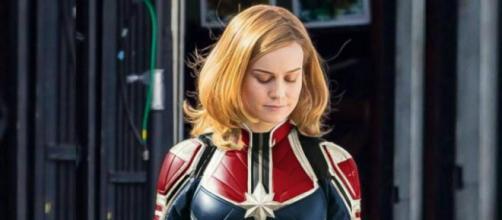 Capitana Marvel: Imagen oficial durante el rodaje de la película