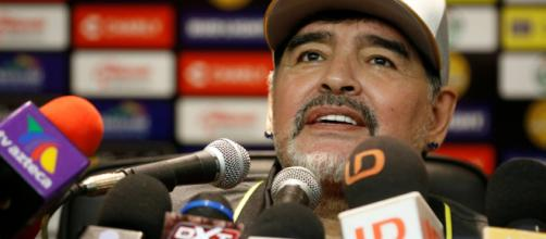 Diego Maradona, tras su triunfal debut como director técnico de Dorados de Sinaloa. - tenemosnoticias.com