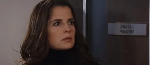 DreAm may be a thing of the past as Drew psushes Sam away. (Image Source: GH Worldwide Voice of the Fans-YouTube.)