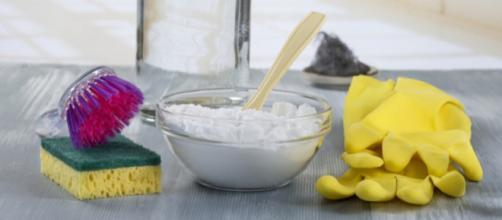 Limpeza utilizando bicarbonato de sódio