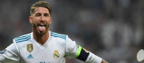 Sergio Ramos después de marcar un gol