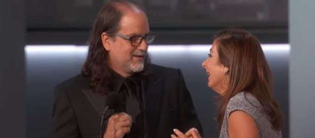 Glenn Weiss proposes on stage, fans on Twitter say best Emmy moment ever - Academy Television | YouTube