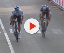 Gianni Moscon supera Bardet in volata al Giro di Toscana.