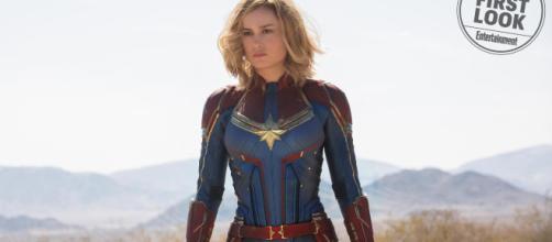 Brie Larson nei panni di Carol Danvers aka Capitan Marvel