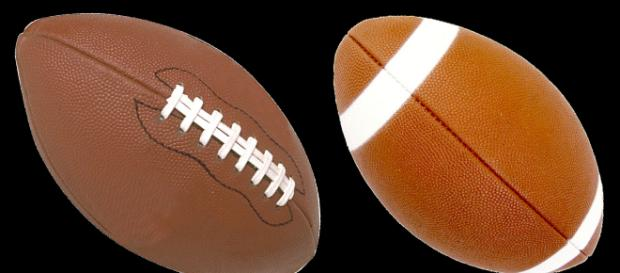 A pair of footballs, similar to those used in the NFL. [Image Source: alles - Pixabay]