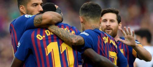 el Barcelona y una fiesta de goles en el Nou Camp