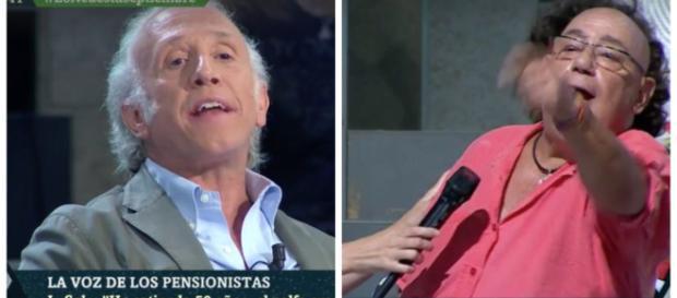 Eduardo Inda y el pensionista en La Sexta