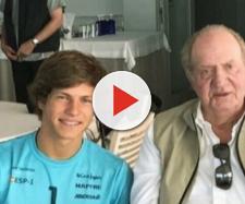Luis,acompañado del rey Juan Carlos. / Instagram