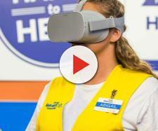 Walmart to Launch Nationwide VR Training Program. [Image source: CBS - YouTube]