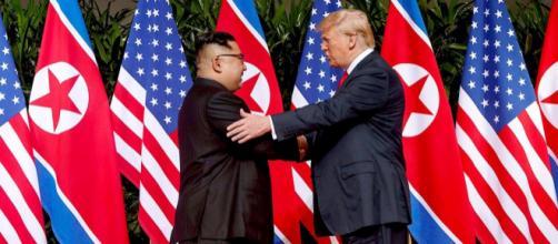 Kim Jong-un e Donald Trump nello storico bilaterale dello scorso 12 giugno