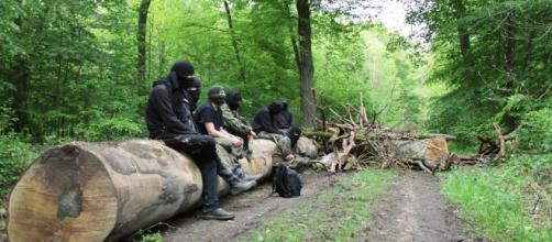 La foresta di Hambach protagonista dello scontro tra manifestanti e polizia (foto: abc-belarus.org)
