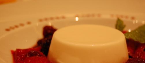 Panna cotta is a simple but delicious desert. [Source: stu_spivack - Flickr]