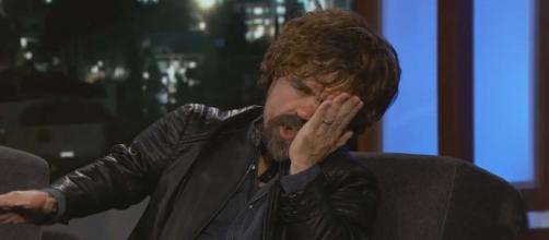 Peter Dinklage enjoyed playing dead on the set of Game of Thrones. [Image Jimmy Kimmel Live/YouTube]