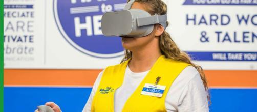 Walmart to Launch Nationwide VR Training Program. [Image source: CBS - YouTube]