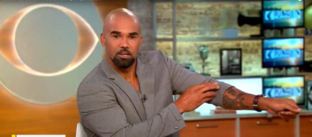 Leading man Shemar Moore shows off his S.W.A.T. tattoo and talks about Season 2 of his police drama. [Image source:CBSThisMorning-YouTube]