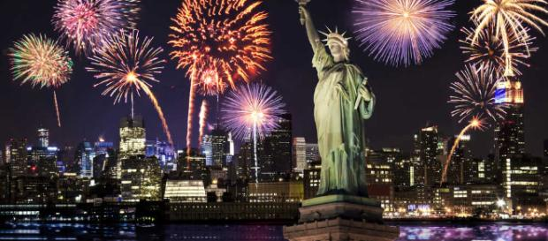 New Year's Eve fireworks in New York City