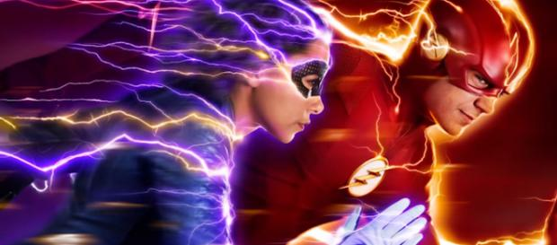 Nora will team-up with his father, Barry, in fifth season of 'The Flash' TV series [Image Credit: Emergency Awesome/YouTube screencap]