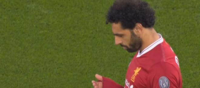 Salah confunde a todos ao reagir estranhamente ao golo da vitória na Champions