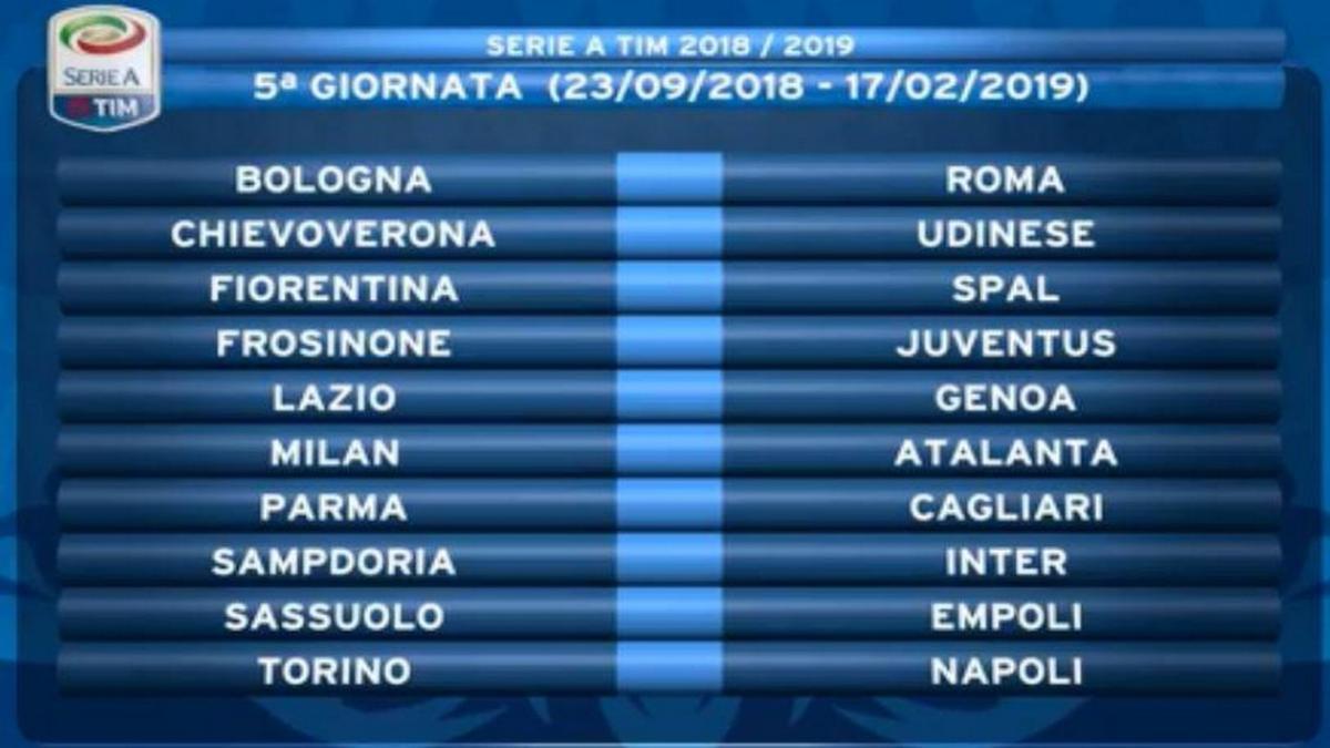 Calendario Serie A Su Sky.Calendario Serie A Quinta Giornata In Diretta Su Dazn E Sky
