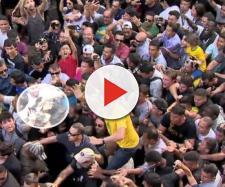 Jair Bolsonaro no corpo a corpo em Juiz de Fora