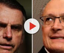 Presidenciáveis Jair Bolsonaro e Geraldo Alckmin trocam acusações por meio das redes sociais. (foto reprodução).