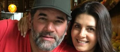 Atriz infiel e seu marido, Eduardo Santamarina.