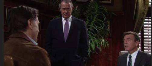 Matt convinces Victor to give Jack DNA sample. (Image Source: The Young and the Restless-YouTube.)