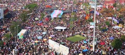 Protestos contra e a favor do candidato Jair Bolsonaro