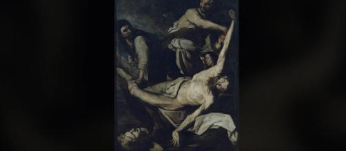 The Martyrdom of Saint Bartholomew: one of many paintings shown in the Art Of Violence exhibit. [img source: Dulwich Picture Gallery - YouTube]