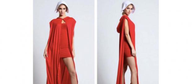 "US lingerie company Yandy produced a Brave Red Maiden costume based on ""The Handmaid's Tale,"" causing outrage. [Image @awlilnatty/Twitter]"
