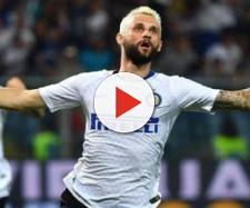 L'esultanza di Brozovic contro la Sampdoria