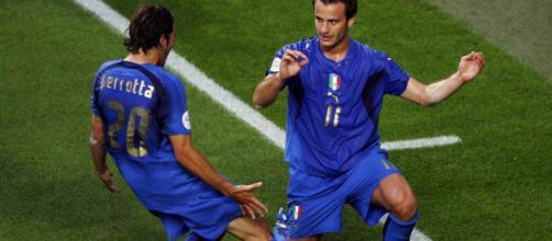 Gilardino festeggia per il gol contro gli Usa ai Mondiali 2006