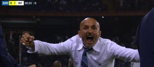 Inter, l'esultanza di Luciano Spalletti contro la Sampdoria
