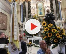 "Sorso, ingresso di San Pio da Pietrelcina al santuario ""Noli Me Tollere"" - Fonte: Pietro Serra"