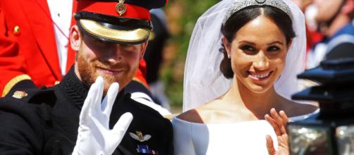 Meghan Markle durante il royal wedding