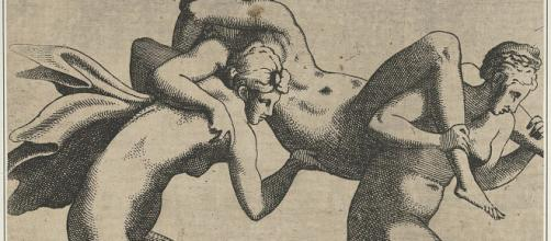 """""""Women Being Carried to a Libidinous Satyr"""" by Leon Davent Image Source: Wikipedia Commons"""