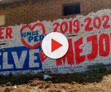 Yungar, Perù: murale a sostegno della candidatura a sindaco di Hitler Alba Sanchez