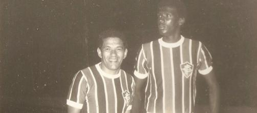 Garrincha com a camisa do Fluminense.