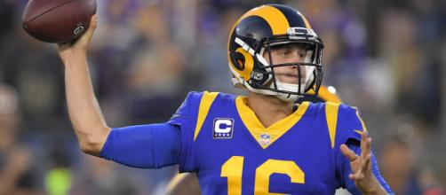 Goff tuvo 465 yardas y 5 TD vs la defensa de los Vikings. - nfl.com.