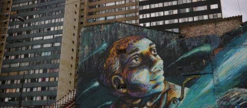 Graffiti Tour Bogotá. Fotografía César Eizaga
