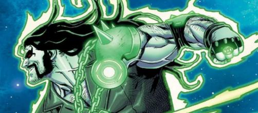 Lobo como Lanterna Verde nas páginas de Injustice.