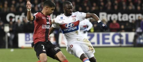 Tanguy Ndombélé avec l'Olympique Lyonnais
