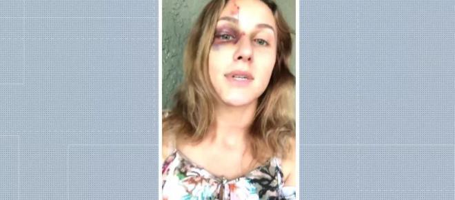 Universitária brasileira agredida nos EUA grava parte da briga com o namorado