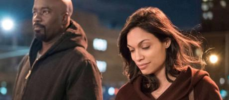 Rosario Dawson may have appeared in her last Marvel Netflix scene this past year. - [Netflix / YouTube screencap]