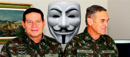 General da Reserva Hamilton Mourão e general Eduardo Villas Boas (Foto: Reprodução/Montagem)