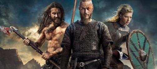 Rollo, Ragnar e Lagertha da série Vikings