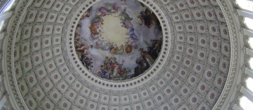 The interior of the rotunda of the U.S. Capitol Building, meeting place of the U.S. House of Representatives. [Image via likedavid - Pixabay]