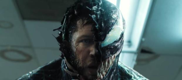 Tom Hardy is hoping for a Venom crossover with The Avengers. [Image Credit] Sony - YouTube